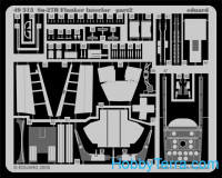 Photo-etched set 1/48 Su-27 Flanker B interior, for Academy kit