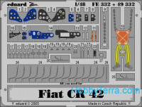 Photo-etched set 1/48 Fiat CR-42, for Italeri kit