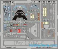 Photo-etched set 1/48 Fw 190A-3, for Hasegawa kit