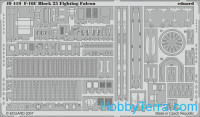 Photo-etched set 1/48 F-16C Block 25 Fighting Falcon S.A., for Tamiya kit
