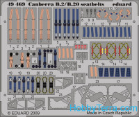 Photo-etched set 1/48 Canberra B2/B20 seatbelts, for Airfix kit