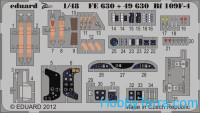 Photo-etched set 1/48 Bf 109F-4 (self adhesive), for Zvezda kit
