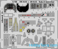 Photoetched set 1/48 Yak-3 (self adhesive), for Zvezda kit