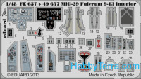 Photo-etched set 1/48 MiG-29 Fulcrum 9-13 interior (self adhesive), for GWH kit