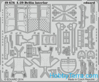 Photo-etched set 1/48 L-29 Delfin interior (self adhesive), for AMK kit