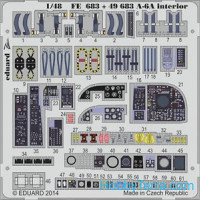 Photo-etched set 1/48 A-6A interior (self adhesive), for HobbyBoss kit