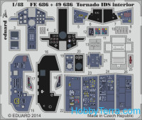 Photo-etched set 1/48 Tornado IDS interior (self adhesive), for Revell kit