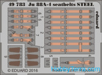 Photo-etched set 1/48 for Ju 88A-4 seatbelts steel, for ICM kit