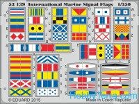 Photo-etched set 1/350 International marine signal flags