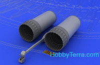 Brassin 1/48 F-4 exhaust nozzles early, for Hasegawa kit