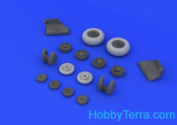 Brassin 1/48 MiG-23 M/MF wheels, for Trumpeter kit