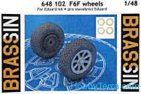 Brassin 1/48 F6F wheels, for Eduard kit