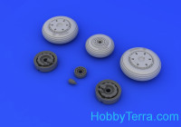 Brassin 1/48 MiG-21F wheels, for Trumpeter kit