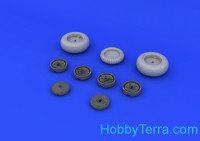 Brassin 1/48 Me 262 wheels, for Tamiya kit