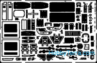 Photo-etched set 1/72 UH-1B, for Italeri kit