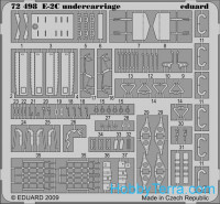 Photo-etched set 1/72 E-2C undercarriage, for Hasegawa kit