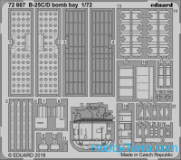 Photo-etched set 1/72 B-25C/D bomb bay, for Airfix kit