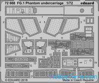 Photo-etched set 1/72 for FG.1 Phantom undercarriage, for Airfix kit