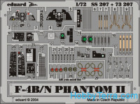 Photo-etched set 1/72 F-4B/N Phantom II, for Hasegawa kit