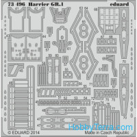 Photo-etched set 1/72 Harrier GR.1 S.A., for Airfix kit