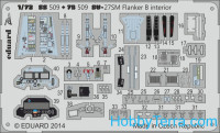 Photoetched set 1/72 Su-27SM Flanker B (self adhesive)