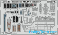 Photo-etched set 1/72 Blenheim Mk.IVF interior, for Airfix kit