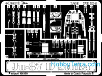 Photo-etched set 1/48 Ju-87D, for Hasegawa kit