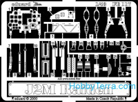 Photo-etched set 1/48 J2M Raiden, for Hasegawa kit