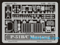 Photo-etched set 1/48 P-51 B/C, for ICM kit