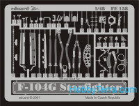 Photo-etched set 1/48 F-104G Starfighter, for Hasegawa kit