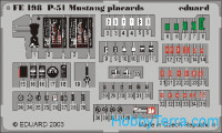 Photo-etched set 1/48 P-51 nameplates, marking