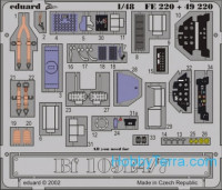 Photo-etched set 1/48 Bf-109E4/7 Color, for Tamiya kit