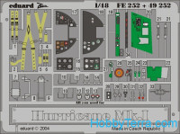 Photo-etched set 1/48 Hurricane Mk.I