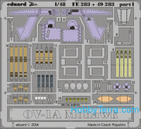 Photo-etched set 1/48 OV-1A Mohawk Color, for Roden kit