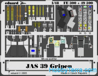 Photo-etched set 1/48 JAS-39 Gripen, for Italeri kit