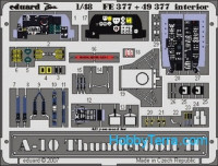 Photo-etched set 1/48 A-10 Thunderbolt II interior Color, for Italeri kit
