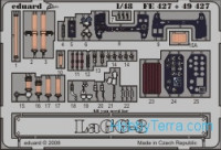 Photo-etched set 1/48 LaGG-3 Color, for ICM kit