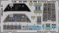 Photo-etched set 1/48 F-111A interior Color, for HobbyBoss kit