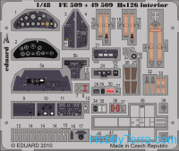 Photo-etched set 1/48 Hs 126 interior, for ICM kit