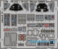 Photo-etched set 1/48 Mirage 2000N interior, for Kinetic Model kit