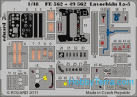 Photo-etched set 1/48 Lavochkin La-5 Color, for Zvezda kit