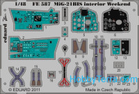 Photo-etched set 1/48 MiG-21BIS interior (self adhesive), for Eduard kit