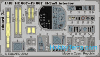 Photo-etched set 1/48 Il-2m3 Sturmovik Color, for Tamiya kit