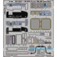 Photo-etched set 1/48 Lynx Mk.88 interior, for Airfix kit