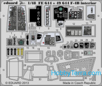Photo-etched set 1/48 F-4B Phantom interior (self adhesive), for Academy kit
