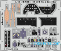 Photo-etched set 1/48 Su-2 interior (self adhesive), for Zvezda kit