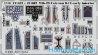 Photo-etched set 1/48 MiG-29 Fulcrum 9-12 early interior (self adhesive), for GWH kit