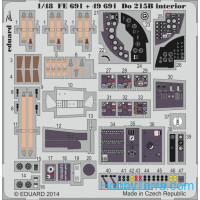 Photo-etched set 1/48 Do 215B interior (self adhesive), for ICM kit