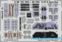 Photo-etched set 1/48 A-37A interior (self adhesive), for Trumpeter kit