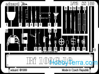 Photo-etched set 1/72 Bf-109G-10, for Revell kit
